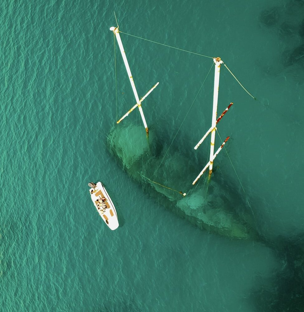 Sunken Ship and Boat